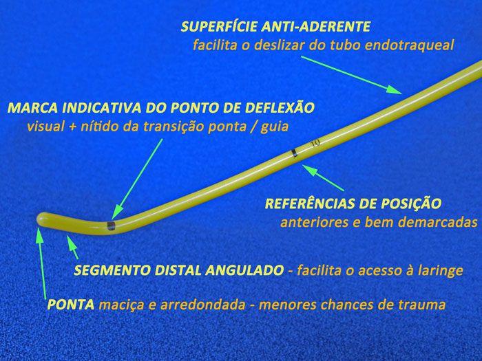 Guia BOUGIE para Intubação Traqueal VENTILADO / OXIGENADO - ADULTO - MT