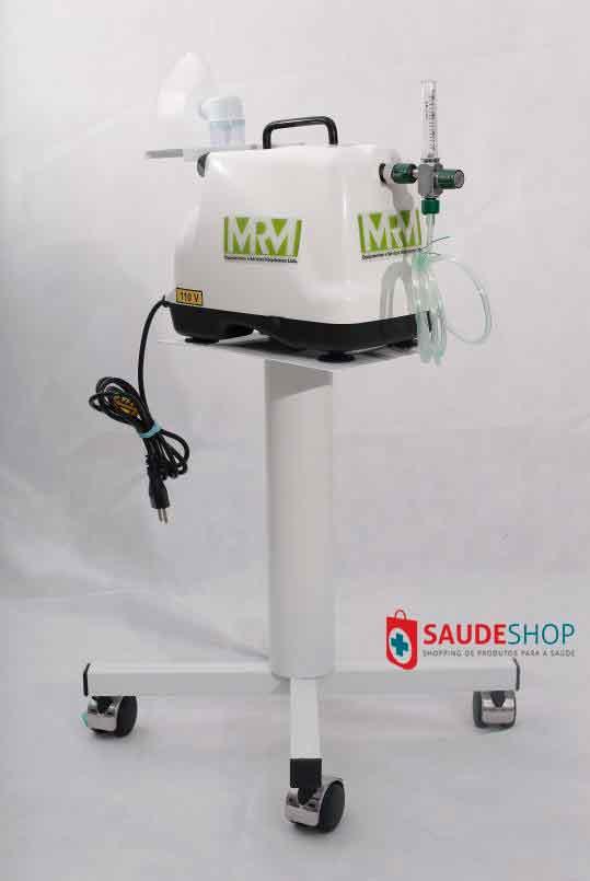 Inalador/Nebulizador com Rodízios Mod. MRM-100C - 1 Saída - Inalovida