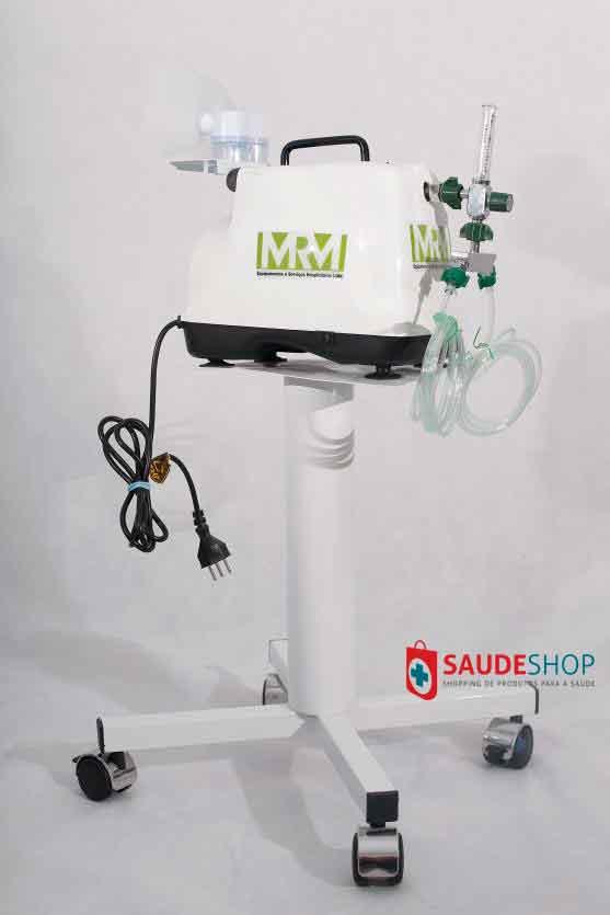 Inalador/Nebulizador com Rodízios Mod. MRM-100C - 2 Saídas - Inalovida