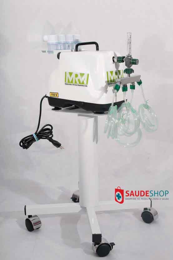 Inalador/Nebulizador com Rodízios Mod. MRM-100C - 4 Saídas - Inalovida