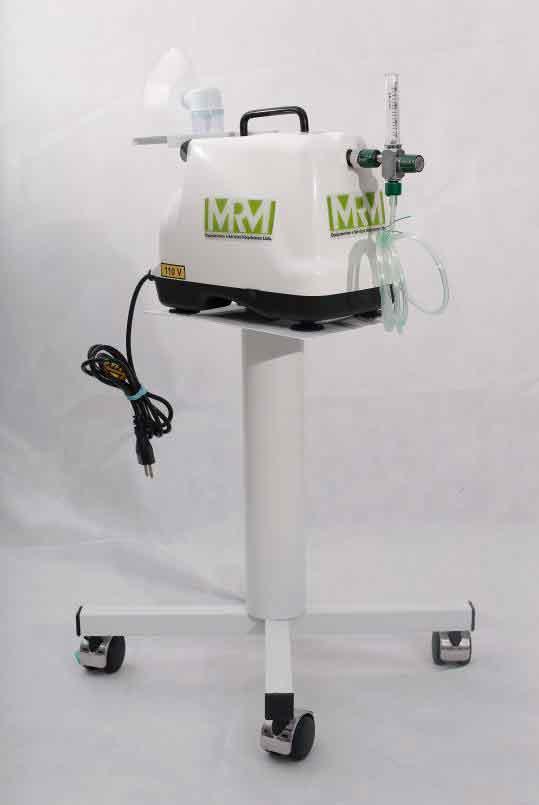 Inalador/Nebulizador com Rodízios Mod. MRM-200C - 1 Saída - Inalovida