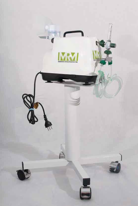 Inalador/Nebulizador com Rodízios Mod. MRM-200C - 2 Saídas - Inalovida
