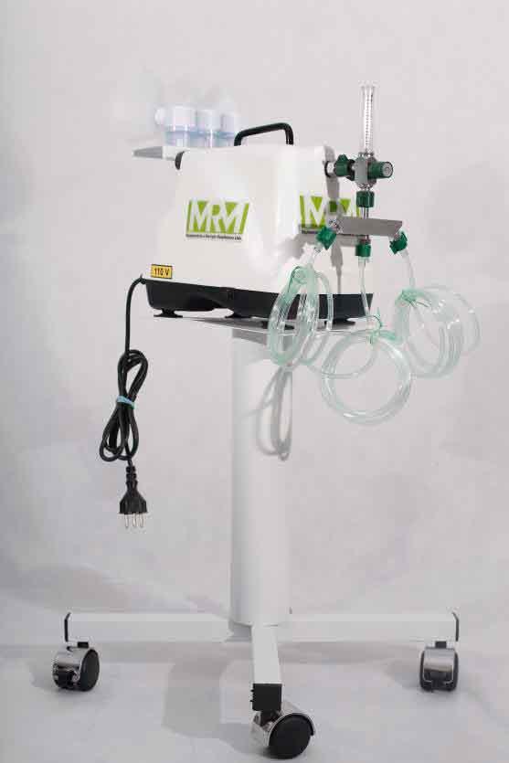 Inalador/Nebulizador com Rodízios Mod. MRM-200C - 3 Saídas - Inalovida
