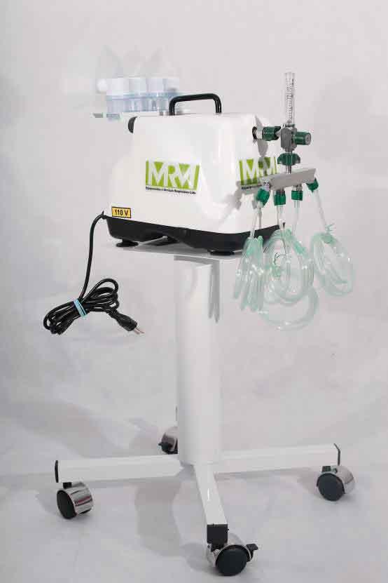 Inalador/Nebulizador com Rodízios Mod. MRM-200C - 4 Saídas - Inalovida