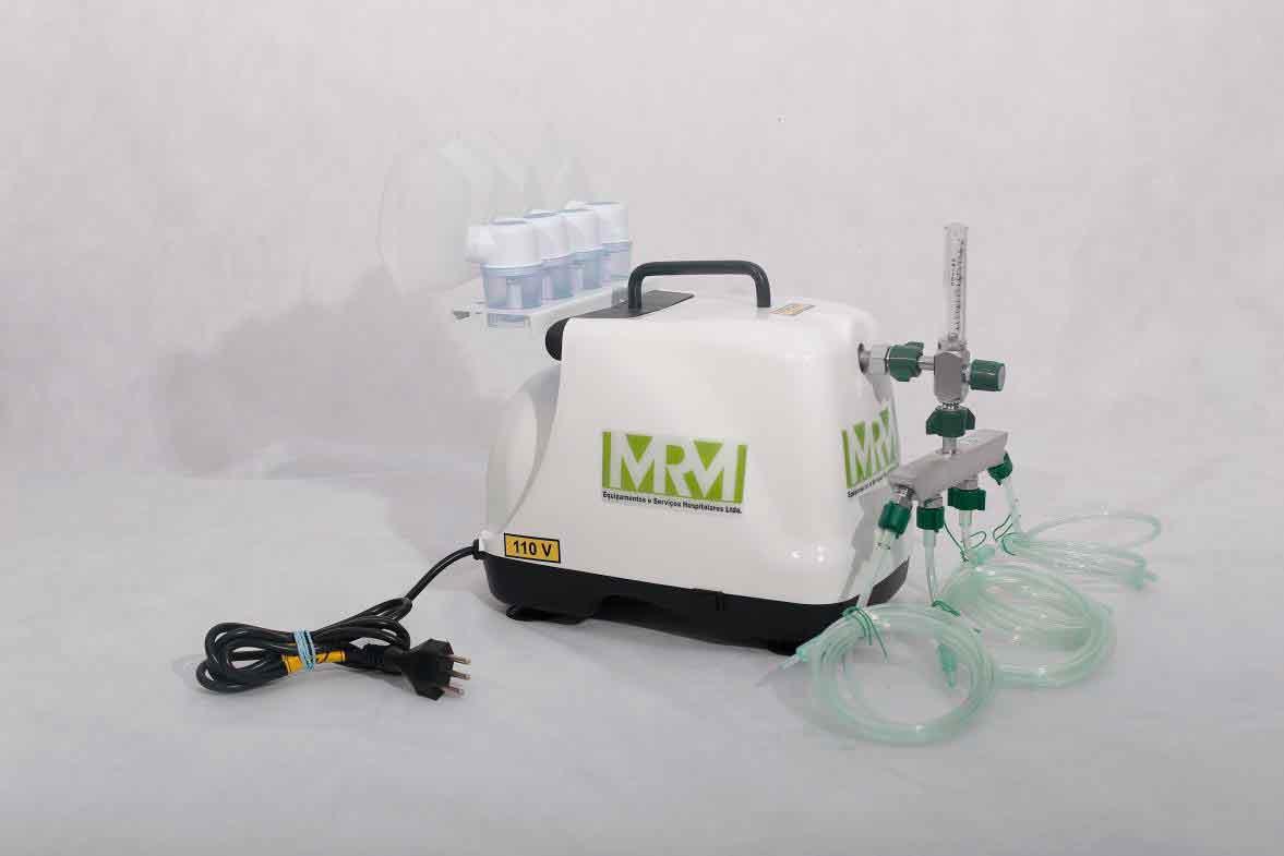 Inalador/Nebulizador Portátil Mod. MRM-100 - 4 Saídas - Inalovida