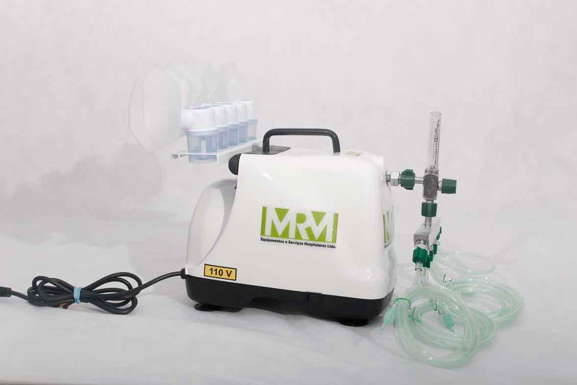 Inalador/Nebulizador Portátil Mod. MRM-100 - 5 Saídas - Inalovida