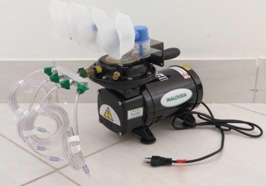Inalador/Nebulizador Portátil Mod. MRM-200 - 4 Saídas - Inalovida Novo