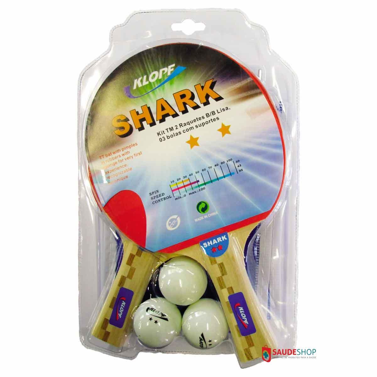 Kit Completo de Tênis de Mesa - Ping Pong - (5052 +5070) - Klopf