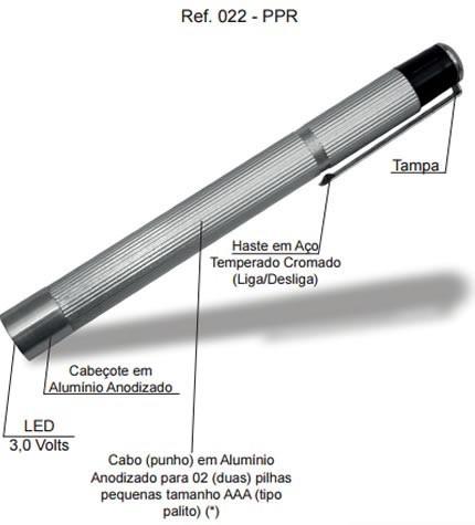 Lanterna Clínica em LED 022 PPR – Missouri