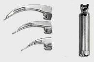 Laringoscópio Convencional com 3 Lâminas Curvas em Aço Inox 700- Missouri