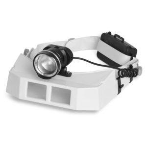 Lupa de Cabeça com 3 lentes Power LED - ML