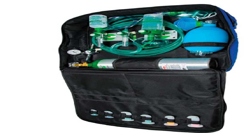 Maleta c/Sistema de Oxigenação/Aspiração e Resgate 3litros - RO4176 - Romed