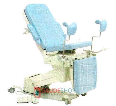 Mesa / Cadeira Ginecológica Automática (subida e descida do Assento, Encosto e Apoio Panturrilhas acionados à Pedal) para Histeroscopia CG-7000-PH - Medpej