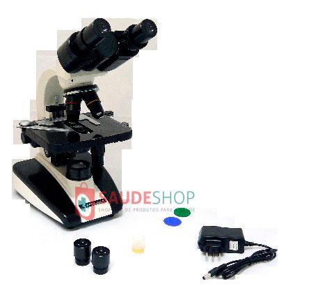 Microscópio Biológico Binocular 1600x (LED) - Mod.502D.AC/10.16X - Edutec