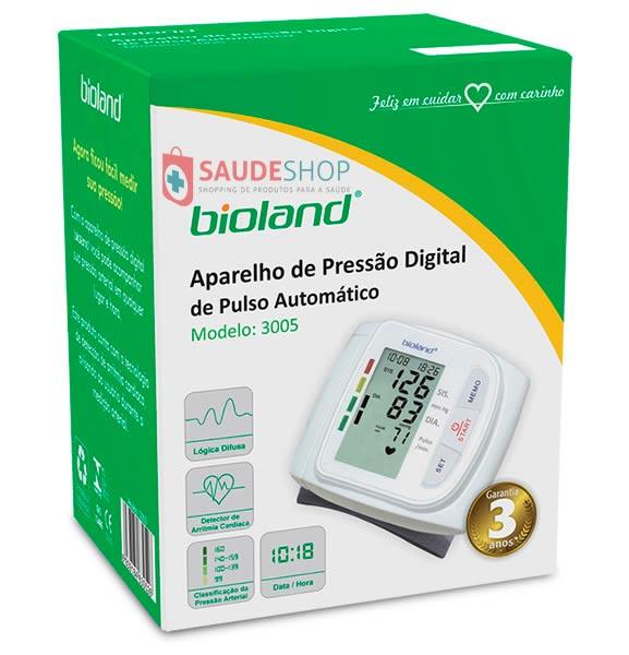 Aparelho de Pressão Digital Automático de Pulso - Mod. 3005 - Bioland