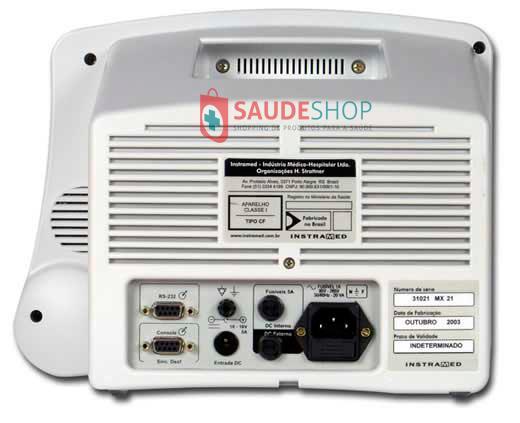 Monitor Multiparâmetro Inmax 10 ECG + RESP + PANI - Instramed