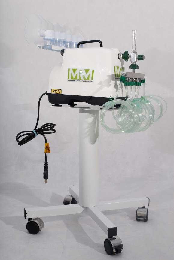 Inalador/Nebulizador 10 Saídas com Rodízios Modelo  -  MRM-100C -  Inalovida