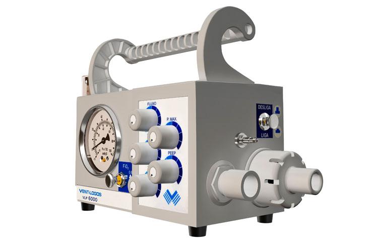 Respirador / Ventilador Pulmonar Mecânico de Transporte de Neonatos de Extremo Baixo Peso e Crianças VLP-6000- Vent logos
