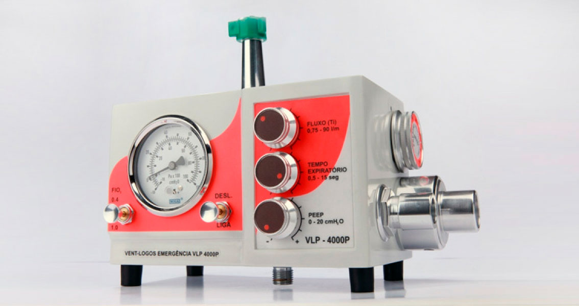 Respirador / Ventilador Pulmonar Mecânico de Transporte Pediátrico e Adulto VLP-4000P- Vent-logos