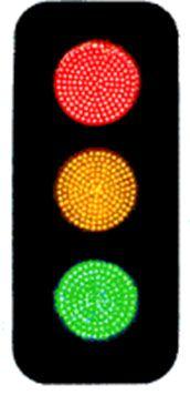 Sinaleiro Semáforo (Sinal Luminoso) em Led - 3 cores- RZ