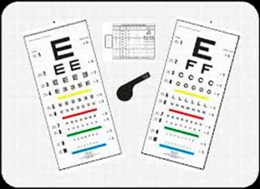 Conjunto de Tabelas de Óptotipos Mod. Snellen para Leitura Direta à Distância de 3 metros - Ref. 300537 - RZ