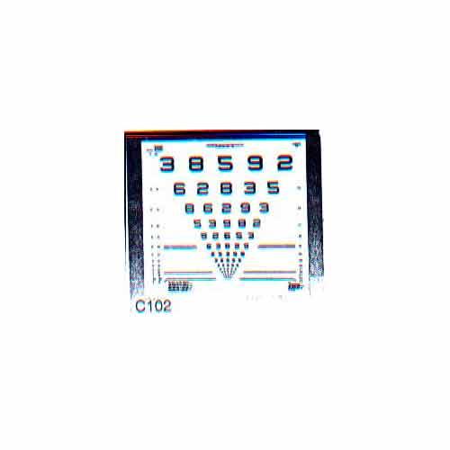 Tabela ETDRS - Visão Subnormal (Apenas Tabela sem Pedestal) - Xenonio