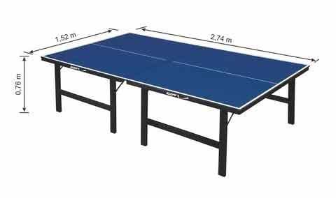 Tênis de Mesa/Ping Pong MDF 15 mm - Ref.1016 - KLOPF
