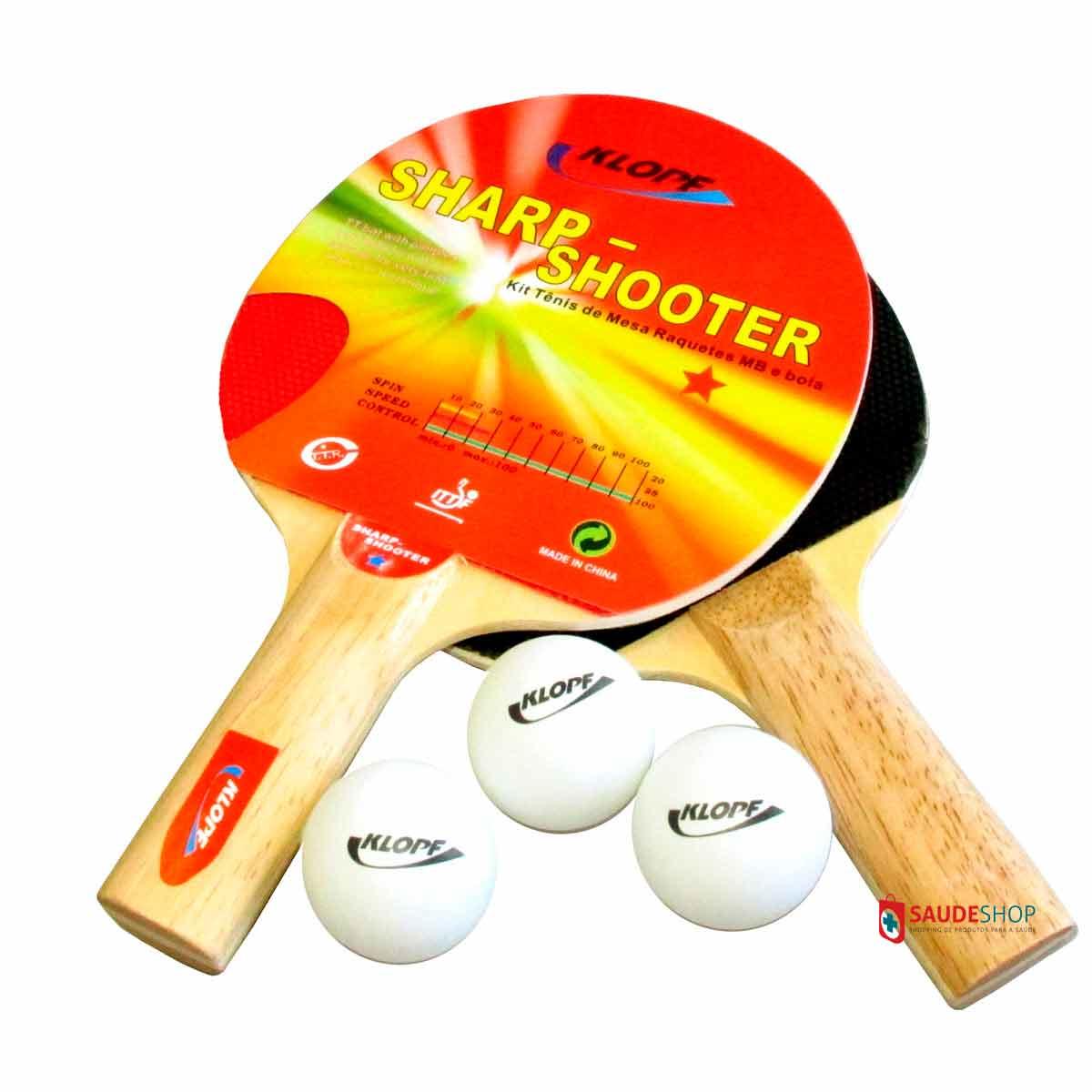 Tênis De Mesa - Ping-Pong MDF 15 Mm - Pés de ferro - Ref.1009 - KLOPF - com Acessórios