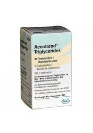 Tiras para teste de triglicerídeos para aparelho Accutrend Plus – Roche