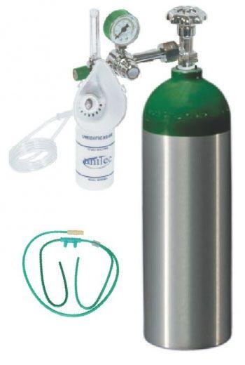 Unidade Portátil para Oxigenação 2,9 Litros ALUMI com Maleta com Rodízios - Mod.UM807 - Unitec