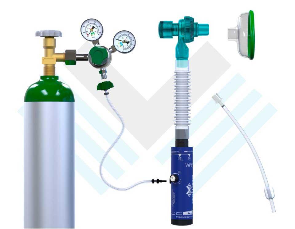 Ventilador Mecânico Automático VentFisio 20-40