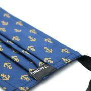 Máscara Reutilizável - Âncora Azul com Dourado- Viking