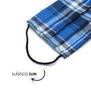 Máscara Reutilizável - Azul escocês  - Elástico SLIM