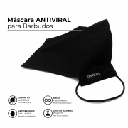 Máscara Reutilizável para Barbudos - Antiviral - Viking