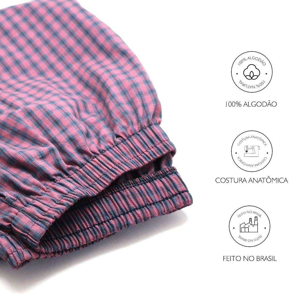 Calça de Pijama Viking - Vichy - Masculino  - Viking