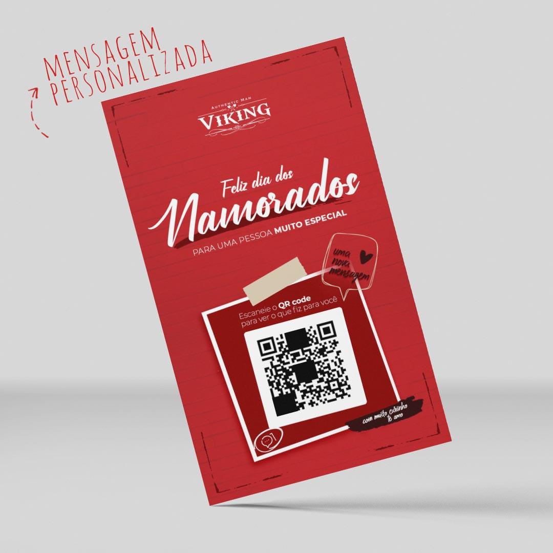 Cartão QrMozão - Mensagem personalizada - Viking  - Viking