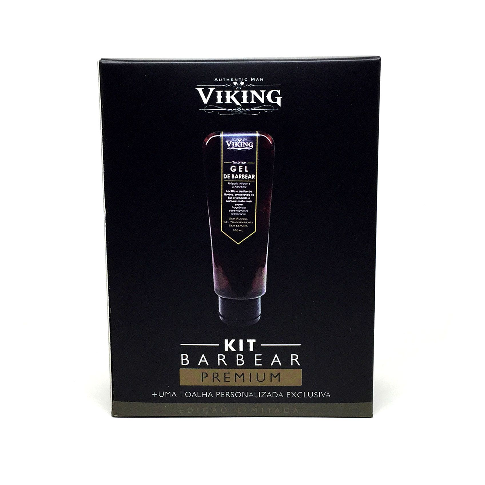 Kit Barbear Premium - Gel de Barbear e Toalha  - Viking