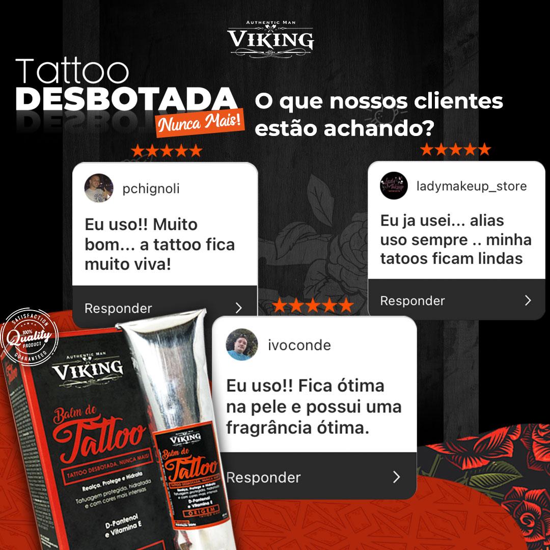 Kit Tattoo - Hidratação Diária (05 un. Balm de Tattoo - Viking - 60 mL)  - Viking