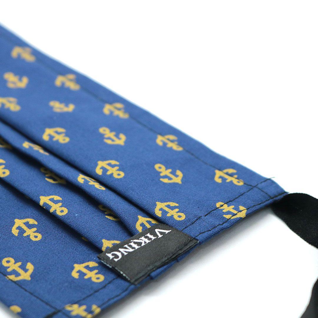 Máscara Reutilizável - Âncora Azul com Dourado- Viking   - Viking