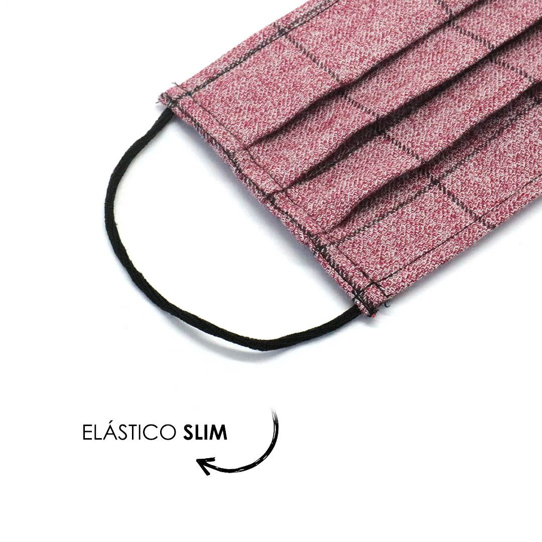 Máscara Reutilizável - Rose Grid  - Elástico SLIM  - Viking