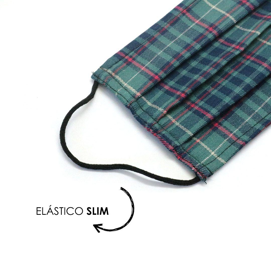 Máscara Reutilizável - Verde escocês - Elástico SLIM  - Viking