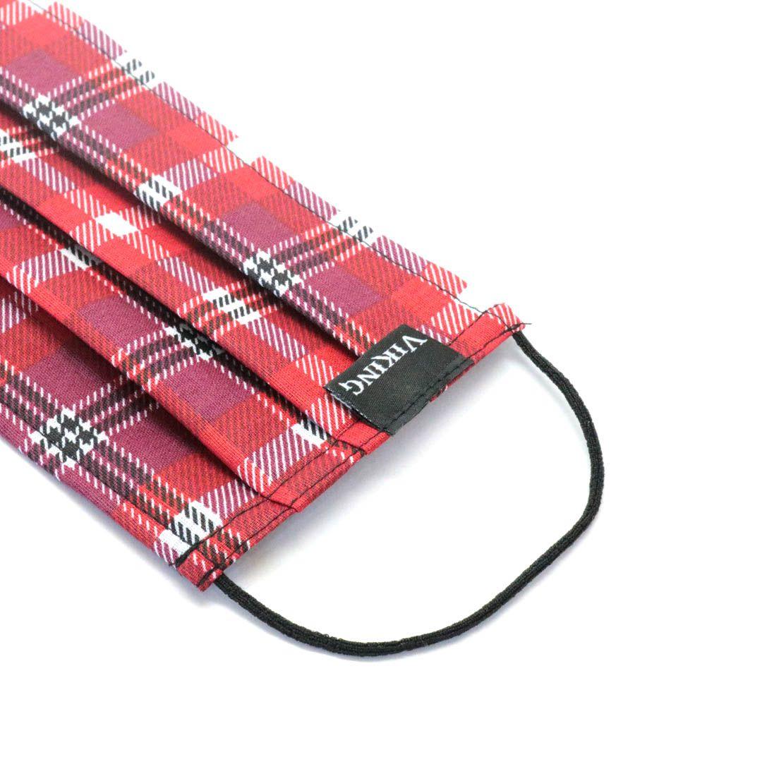 Máscara Reutilizável - Vermelho escocês  - Elástico SLIM  - Viking
