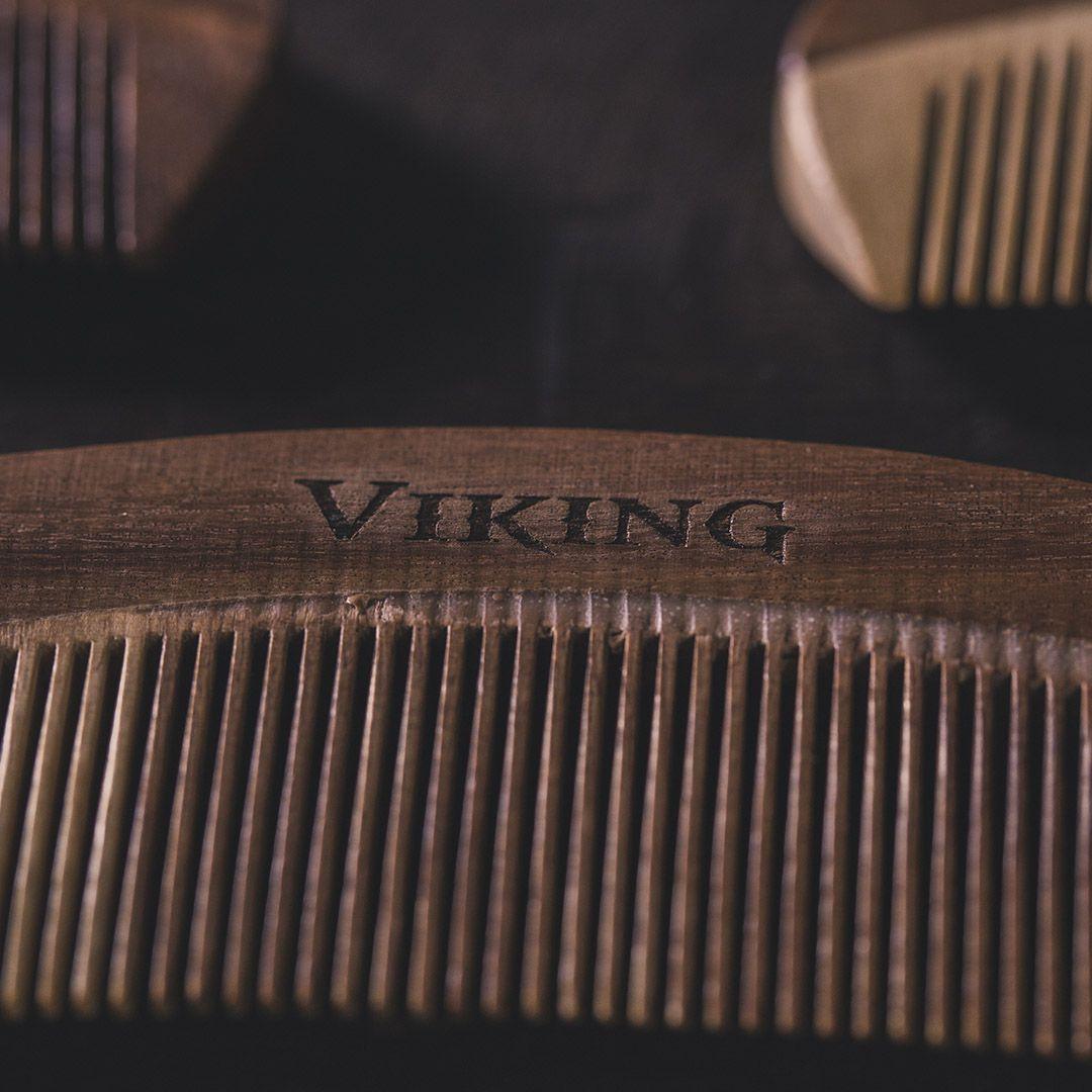 Pente de Barba - Madeira Curvo - Viking  - Viking
