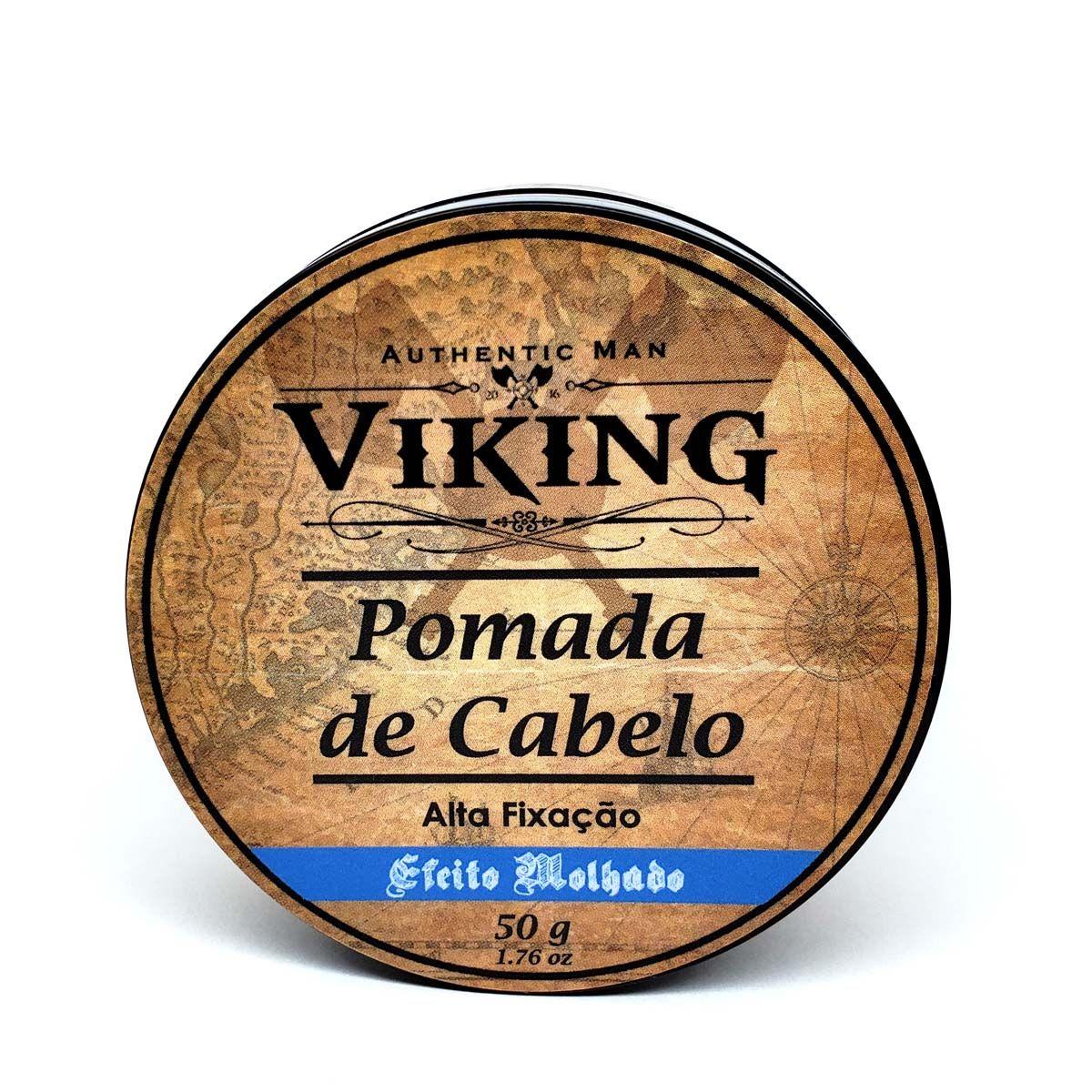 Pomada de Cabelo - Efeito Molhado - Viking  - Viking