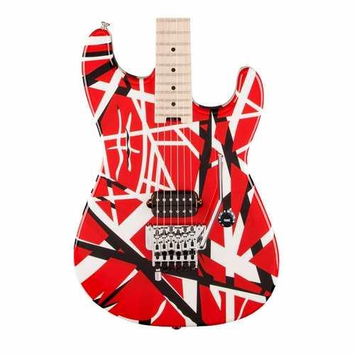 Guitarra Evh Striped Series Red Black White