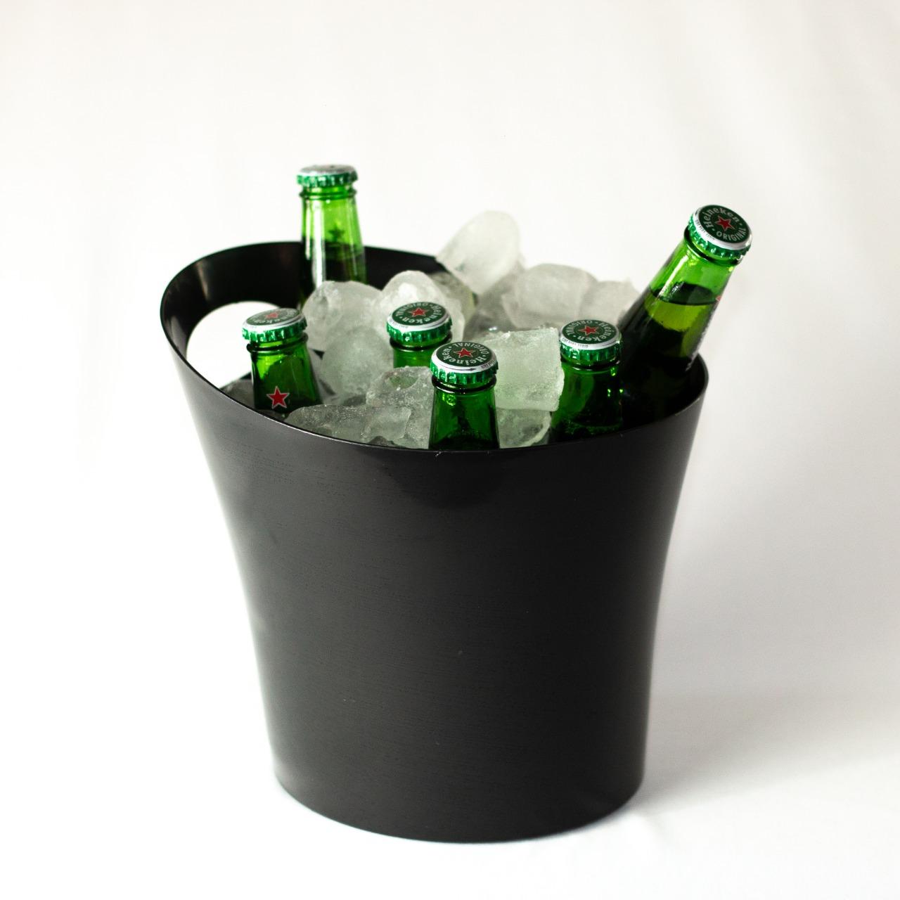 10 Baldes de Gelo 4,5 L para Cerveja Baldinhos Gelo + 4 Copos Long Drink