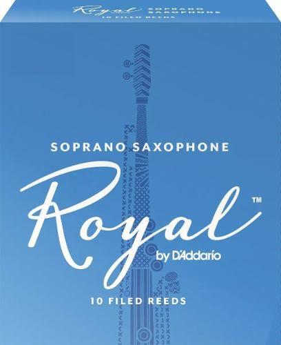 Palhetas Rico Royal P/ Sax Soprano Nº 2,5 (10 Unidades)