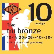 Encordoamento Violão Rotosound Tb10 Bronze 010 Extra Light