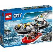 Lego City 60129 Patrulha Policial Lancha Polícia, Novo