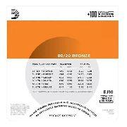 Set Pack Kit Com 3 Encordoamento Daddario Violão Aço Ej10-3d 010-047 3 Jogos